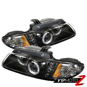 L r Black Halo Led Projector Drl Headlight Lamp Assembly 96 2000 Dodge Caravan
