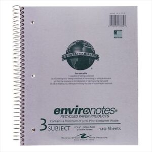 Roaring Spring Environotes 3 subject Notebooks 13384
