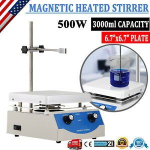 Dual Control Sh 3 Hot Plate Magnetic Stirrer Mixer Stirring Laboratory Heating