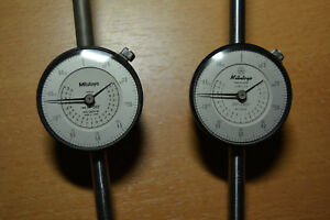 2 Mitutoyo Dial Indicator 2424 And 2424 10 001 2 000