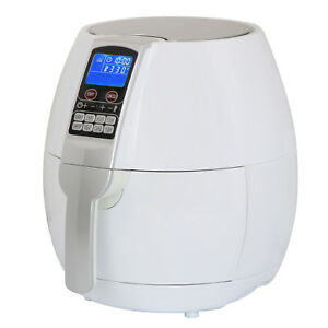 Electric Air Fryer 3 7qt 1500w With Lcd Touch Display Deep Rapid Fryer White
