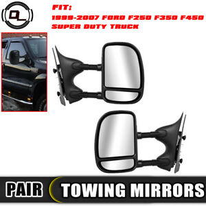 Pair Towing Mirrors Side View Mirrors 1999 2007 Ford F250 F350 F450 Super Duty