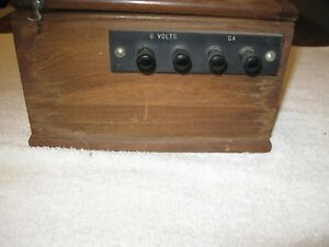 Vintage Leeds Northrup Co 2420 light Beam Galvanometer Walnut Wood Case