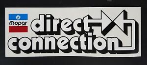 Mopar Direction Connection Decal New 70s Dodge Plymouth