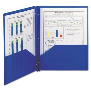 Smead Poly Two pocket Folder With Fasteners 87726