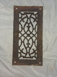 1 Antique Cast Iron Fireplace Grill Grates 11x6 Wall Ceiling Vent Old Vtg 86 18f