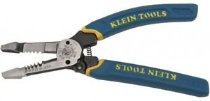 Klein Tools Wire Stripper Cutter Cable Cutting Tool Bolt Shearing Twister 8 Inch