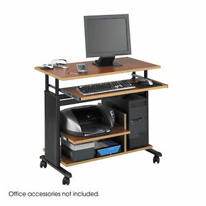 Muv Mini Powder coated Steel Frame Tower Desk With Adjustable Keyboard Shelf