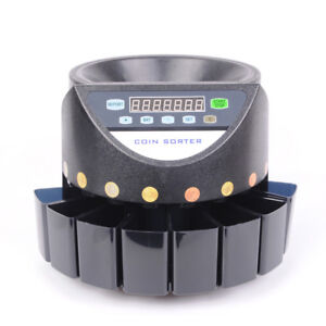 Nzl Auto Euro Coin Counter Money Sorter Electric Cash Currency Counting Machine
