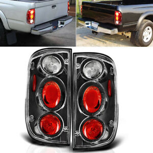 For 2001 2004 Toyota Tacoma Tail Lights Black Clear Brake Rear Lamps Replacement