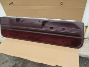 1985 1986 1987 Monte Carlo Ss Cutlass 442 Interior Door Panel Burgundy Oem 2