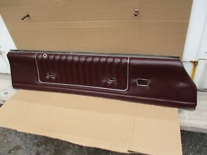 1985 1986 1987 Monte Carlo Ss Cutlass 442 Interior Door Panel Burgundy Oem Up 1
