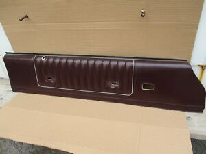 1985 1986 1987 Monte Carlo Ss Cutlass 442 Interior Door Panel Burgundy Oem Up 2