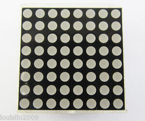 50pcs 8x8 Dot Matrix 3mm Red Led Display Common Cathode