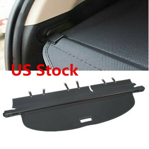 For Nissan Rogue 2014 2019 Retractable Trunk Cargo Cover Security Shield Black