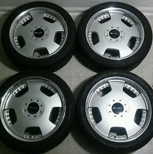 17 Work Euroline Dh Jdm 4x114 3 5x114 3 Wheels Full Face Dish Rare Vip Rims