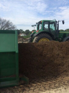 Areomaster Pt130 Compost Turner With John Deere 7520 Itv Tractor