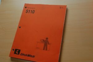 Ditch Witch 5110 Trencher Ditcher Plow Parts Manual Book Catalog List Spare 1996