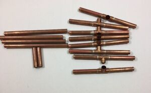 Copper Edc Pipes 5 1 2 Inch Lot 14 Pipes Tube Tubing Art Home Plumbing Decor