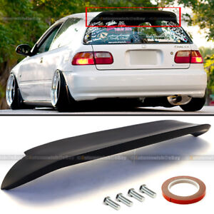 Fit 92 95 Civic 3dr Hatchback Duckbill Spoon Style Unpainted Rear Spoiler Wing
