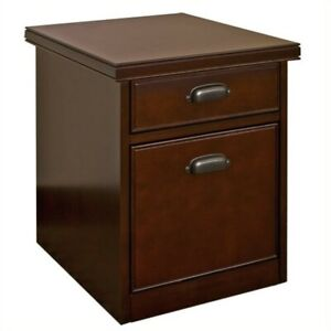 Beaumont Lane 2 Drawer Mobile Lateral Wood File Cabinet In Cherry