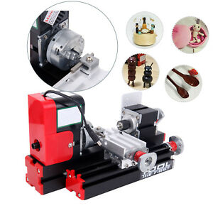 Diy Mini Metal Motorized Lathe Machine Model Making Woodworking Tools 24w 2a
