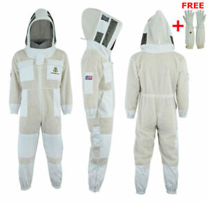 3 Layer Bee Beekeeper Beekeeping Suit Ventilated Astronaut Veil 2xl bs13