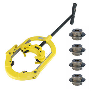 Steel Dragon Tools H4 Hinged 2 4 Pipe Cutter With 4 Reed 03505 Cutter Wheels