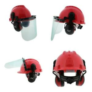 Forestry Construction Safety Helmet Vented Hard Hat With Visors Earmuffs