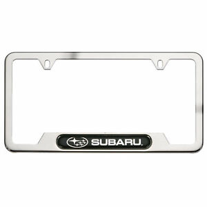 Oem Subaru Polishing Stainless Steel License Plate Frame Fits All New Soa342l127