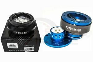 Nrg Steering Wheel Combo Kit 2 0 Qr Blue Titanium Short Hub Adapter Srk 100h