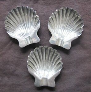 Vintage Sanborns Mexico Sterling Silver Footed Clam Shell Ashtray Salt Cellar