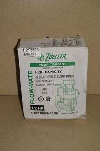 Zoeller Flow Mate Submersible Sump Pump 2p550a New