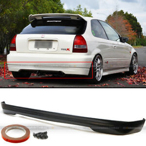 For 96 00 Civic Ek9 3dr Hatchback Polyurethane T R Style Rear Bumper Chin Lip