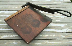 Antique Desktop Paper Cutter Guillotine Shear Milton Bradley Dandy Cast Iron Vtg