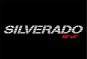Silverado Window Decal Windshield Sticker Chevy Trucks Bed Tailgate Letters