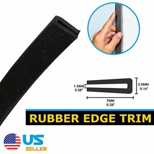 120 Rubber Seal Trim Molding Strip Black U Channel Car Window Door Edge Protect