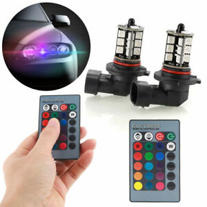 Rgb Wireless 9006 Hb4 27 Smd Led Bulbs For Fog Daytime Running Drl Lights