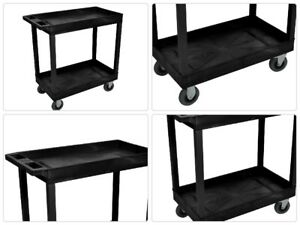Plastic Utility Cart Mobile Organizer Chemical Resistant Wheel Heavy Duty Caster
