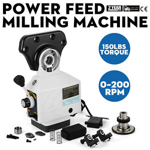 As 250 150lbs Torque Power Feed Milling Machine X axis Alsgs 0 200rpm
