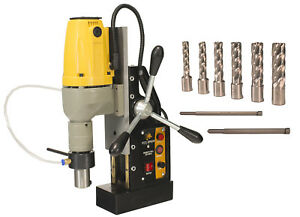 Steel Dragon Tools Md40 Magnetic Drill Press With 7pc 2 Small Hss Cutter Kit
