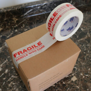 1 72 Rolls 2x110 fragile Handle With Care Security Carton Packing Tape 2