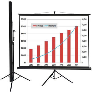 Tripod 100 Inch 4 3 Hd Projector Adjustable Projection Screen Portable Stand