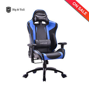 Racing Gaming Chair Computer Office Chair With Headrest 400 Lbs Capacity