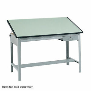 3962gr Safco Gray Drawing Precision Drafting Steel Base Table