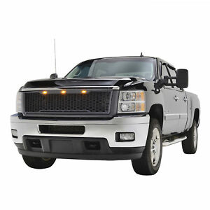 2011 2014 Chevy Silverado 2500 3500 Grille Raptor Style Black Abs Led Front