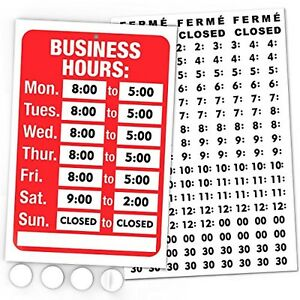 Open Sign Business Hours Sign Display Hours Of Operation Customizable See Video