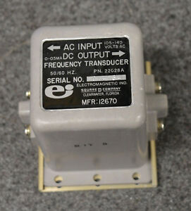 Square D 22028a 50 60 Hz Frequency Transducer Military Generator