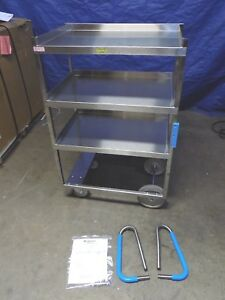 Lakeside Heavy duty Stainless Steel Utility Cart 3 shelf 700 Lb Capacity 7015
