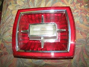Vintage Original 1966 Ford Galaxie Rear Tail Light Lens With Back Up Light